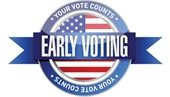 Vote early graphic