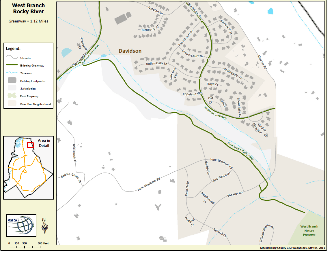 River Run to Summers Walk Greenway map